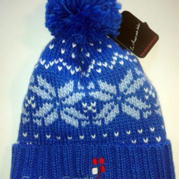 Bonnet Montagne Bleu/ motif CouleursSavoie