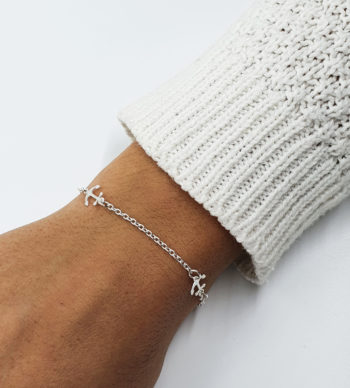 Bracelet chaîne ancre en argent 925