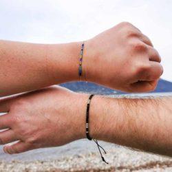 Bracelets à message codés morse je t'aime