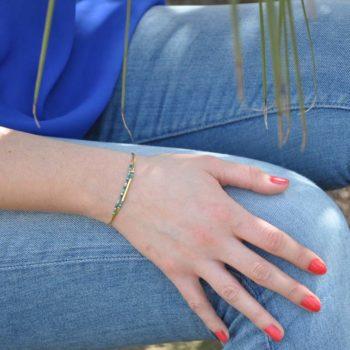 bracelet fin 2 rangs doré
