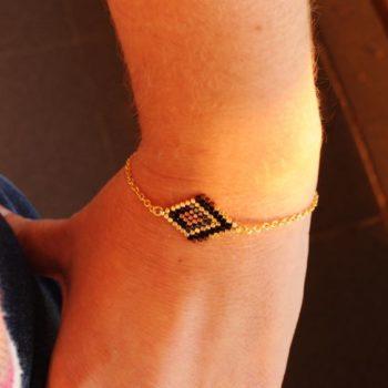 bracelet tissé en perles miyuki