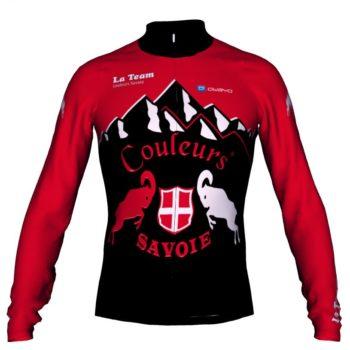 maillot cycliste hiver couleurs savoie