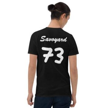 t-shirt noir savoyard 73 imprimé dans le dos