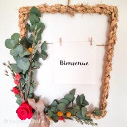 Ros'Arum_Cadre osier et fleurs séchées