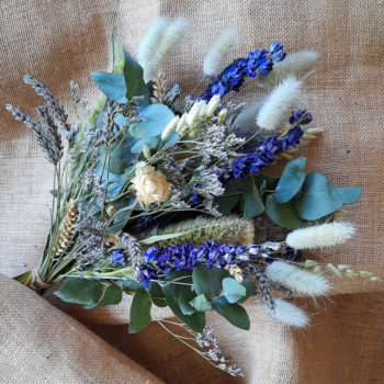 Ros'Arum_Bouquet de fleurs séchées_ Tons bleu