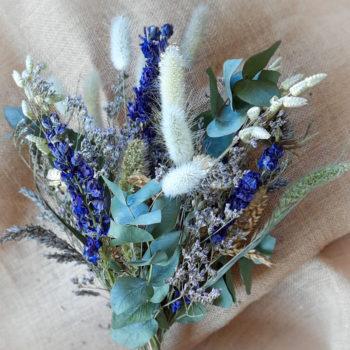 Ros'Arum_Bouquet de fleurs séchées_Ton Bleu_détails1