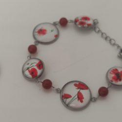 bracelet collection les coquelicots